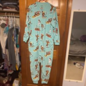 NICK & NORA Christmas Sock Monkey Onesie pajamas